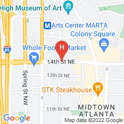 Mapa ATLANTA MARRIOTT SUITES MIDTOWN
