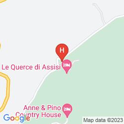 Mapa LE QUERCE DI ASSISI
