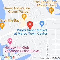 Mapa MARRIOTT MARCO ISLAND RESORT GOLF CLUB AND SPA