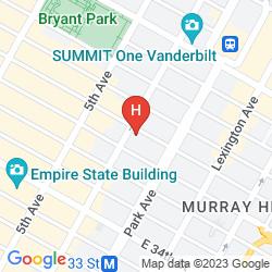 Mapa NH COLLECTION NEW YORK MADISON AVENUE