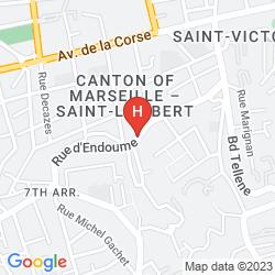 Mapa LES CHAMBRES D'HOTES D'ENDOUME