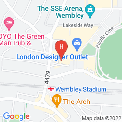 Mapa HOLIDAY INN LONDON - WEMBLEY