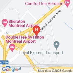 Mapa RODEWAY INN AIRPORT DORVAL