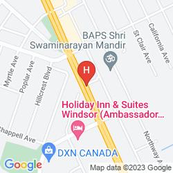 Mapa HAMPTON INN AND SUITES BY HILTON WINDSOR