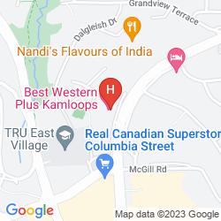 Mapa BEST WESTERN PLUS KAMLOOPS