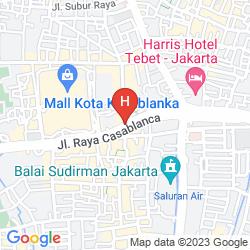 Mapa WYNDHAM CASABLANCA JAKARTA