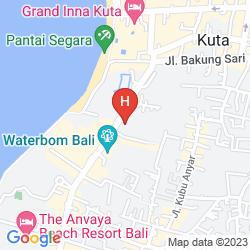 Mapa HARD ROCK HOTEL BALI