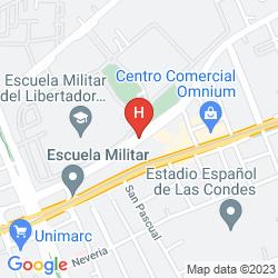 Mapa APART HOTEL INTERSUITES LAS CONDES