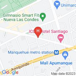 Mapa BEST WESTERN PREMIER MARINA LAS CONDES