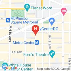 Mapa WASHINGTON MARRIOTT AT METRO CENTER