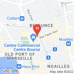 Mapa BEST WESTERN HOTEL MARSEILLE BOURSE VIEUX PORT BY HAPPYCULTURE