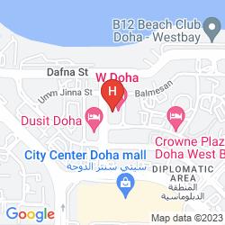 Mapa W DOHA HOTEL & RESIDENCE