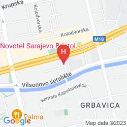 Mapa NOVOTEL SARAJEVO BRISTOL