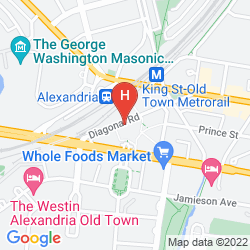 Mapa EMBASSY SUITES ALEXANDRIA - OLD TOWN