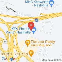Mapa HOLIDAY INN EXPRESS HOTEL & SUITES NASHVILLE-I-40&I-24(SPENCE LN)