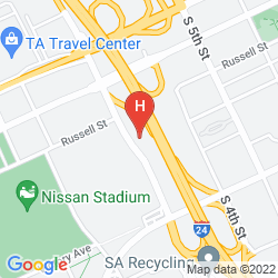 Mapa QUALITY INN NASHVILLE DOWNTOWN - STADIUM