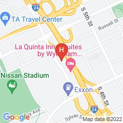Mapa RAMADA LIMITED AT THE STADIUM (DOWNTOWN) NASHVILLE