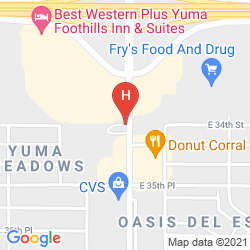 Mapa MICROTEL INN AND SUITES YUMA