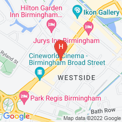 Mapa HAMPTON BY HILTON BIRMINGHAM BROAD STREET