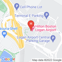 Mapa HILTON BOSTON LOGAN AIRPORT