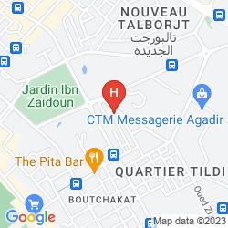 Mapa RIAD LES CHTIS D'AGADIR