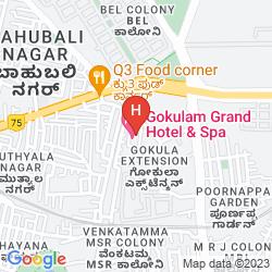 Mapa GOKULAM GRAND HOTEL & SPA BANGALORE