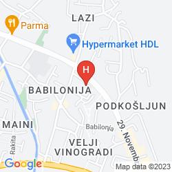 Mapa SUN HOSTEL BUDVA