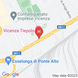 Mapa VICENZA TIEPOLO