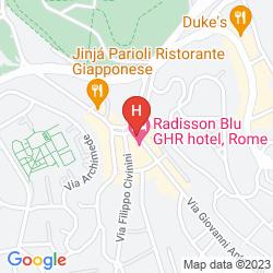 Mapa RADISSON BLU GHR HOTEL, ROME