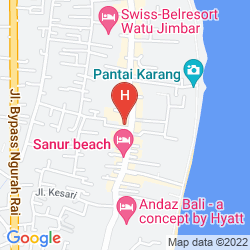 Mapa OASIS LAGOON HOTEL SANUR