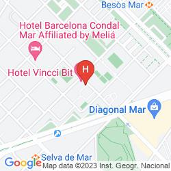 Mapa VINCCI BIT HOTEL BARCELONA