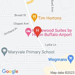 Mapa HOMEWOOD SUITES BY HILTON BUFFALO-AIRPORT