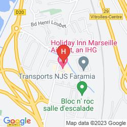 Mapa GOLDEN TULIP MARSEILLE AIRPORT
