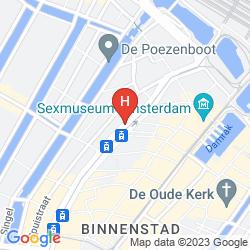 Mapa WESTCORD CITY CENTRE HOTEL AMSTERDAM