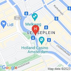Mapa AMERICAN HOTEL AMSTERDAM