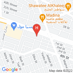 Mapa CROWNE PLAZA AL KHOBAR