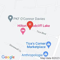 Mapa HILTON WOODCLIFF LAKE