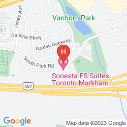 Mapa STAYBRIDGE SUITES TORONTO MARKHAM