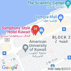 Mapa SYMPHONY STYLE KUWAIT, A RADISSON COLLECTION HOTEL
