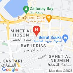 Mapa RAMADA DOWNTOWN BEIRUT