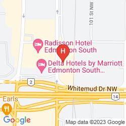 Mapa HOLIDAY INN CONFERENCE CTR EDMONTON SOUTH