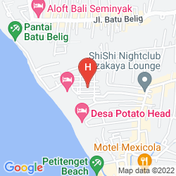 Mapa W BALI - SEMINYAK