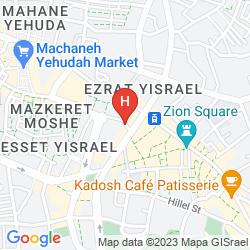 Mapa PALATIN HOTEL JERUSALEM