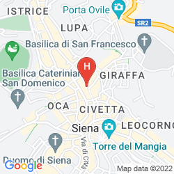 Mapa GRAND HOTEL CONTINENTAL SIENA - STARHOTELS COLLEZIONE