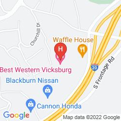 Mapa BEST WESTERN VICKSBURG