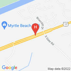 Mapa FAIRFIELD INN MYRTLE BEACH NORTH