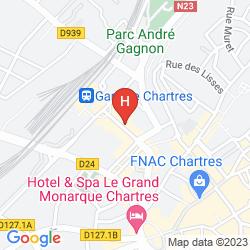 Mapa CAMPANILE CHARTRES CENTRE - GARE - CATHÉDRALE