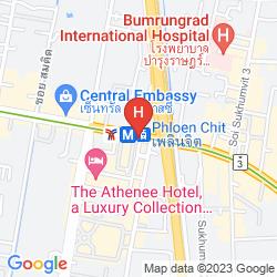 Mapa NOVOTEL BANGKOK PLOENCHIT SUKHUMVIT