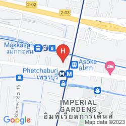 Mapa FX HOTEL METROLINK MAKKASAN