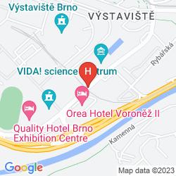 Mapa OREA HOTEL VORONEZ 1